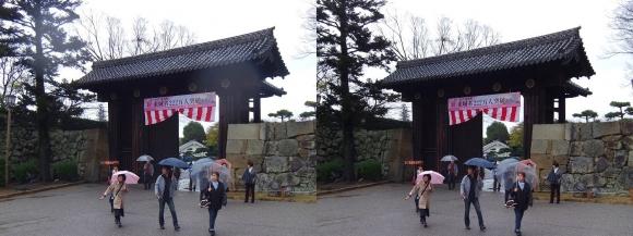 姫路城大手門①(交差法)