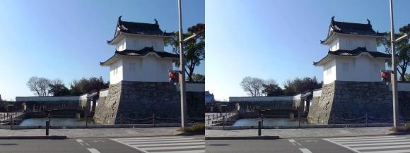 赤穂城跡 大手隅櫓・大手門(平行法)