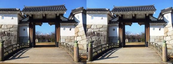 赤穂城跡 本丸厩口門②(平行法)