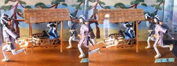 赤穂城跡 本丸櫓門内展示 忠臣蔵人形「早篭」(平行法)