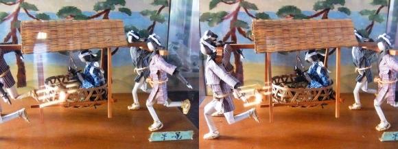 赤穂城跡 本丸櫓門内展示 忠臣蔵人形「早篭」(交差法)