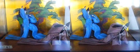 赤穂城跡 本丸櫓門内展示 忠臣蔵人形「松の廊下」(平行法)