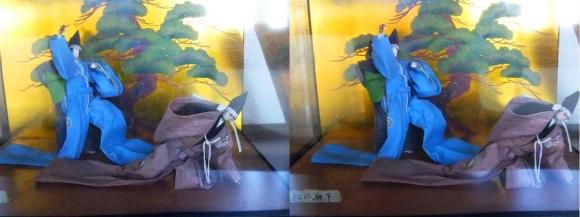 赤穂城跡 本丸櫓門内展示 忠臣蔵人形「松の廊下」(交差法)