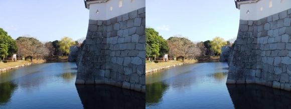 赤穂城跡 本丸門内堀(平行法)