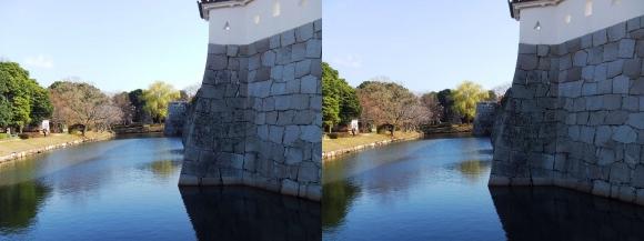 赤穂城跡 本丸門内堀(交差法)