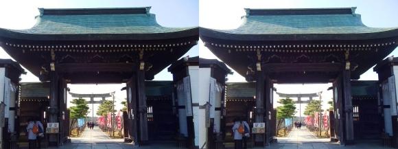 大石神社 神門(平行法)