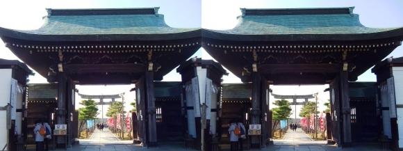 大石神社 神門(交差法)