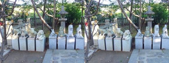大石神社 境内③(平行法)