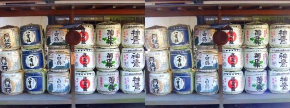 大石神社 奉納菰樽酒(平行法)