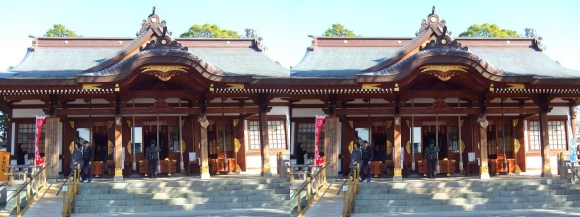 大石神社 本殿(交差法)
