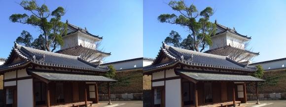 赤穂城跡 番所跡休憩所・大手隅櫓(平行法)
