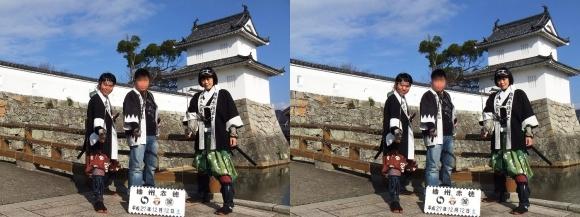 赤穂城跡 大手門前「撮らんか~れAKO~あこうのまちで義士と一緒に記念撮影~」①(平行法)