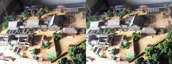 姫路城西の丸渡櫓展示 黒田官兵衛城主時代の居城模型①(平行法)