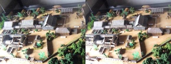 姫路城西の丸渡櫓展示 黒田官兵衛城主時代の居城模型①(交差法)