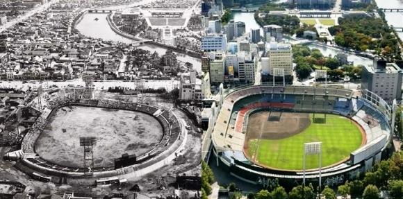 旧広島市民球場の変貌