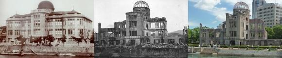 原爆ドーム 被爆前・被爆直後・現在