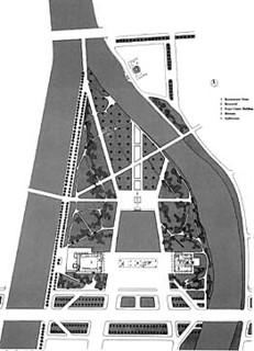 丹下健三「平和記念公園平面図」