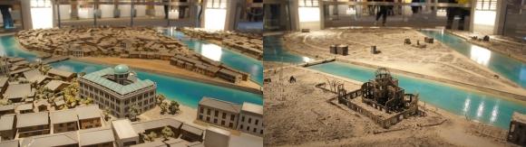 平和記念資料館の広島ジオラマ模型