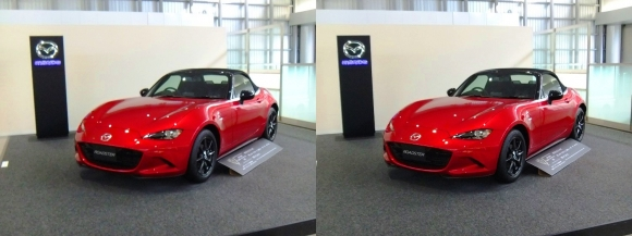 広島駅展示 MAZDA ROADSTER S Special Package(交差法)