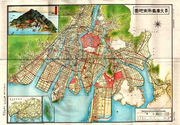 昭和13年廣島市街地図