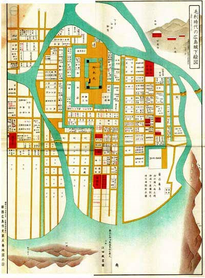 毛利時代の広島城下絵図