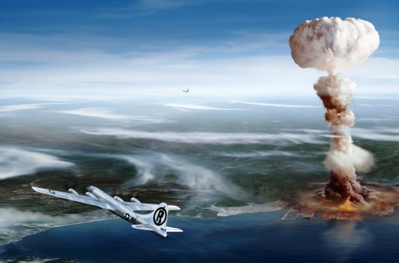 広島への原爆投下想像イメージ