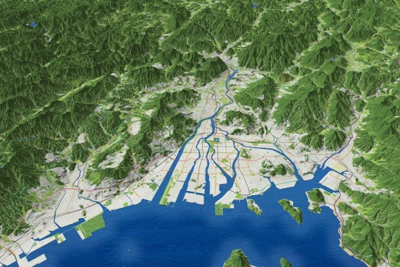 広島市街地鳥瞰図