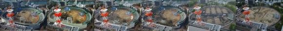 旧広島市民球場の解体