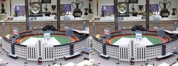 阪急西宮ギャラリー 西宮球場模型(交差法)