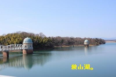 狭山湖です。