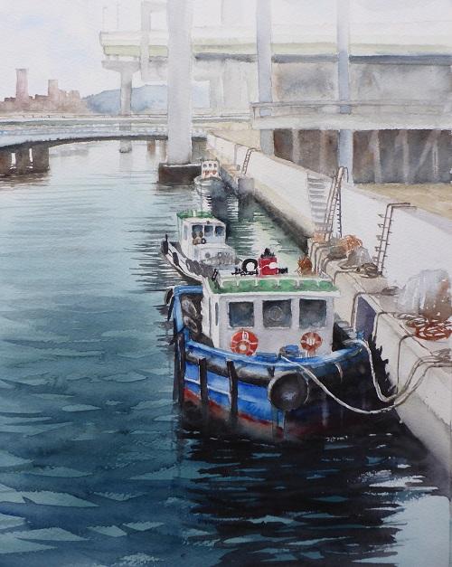 大阪港の船