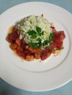 マグロ&トマトのハーブサラダ