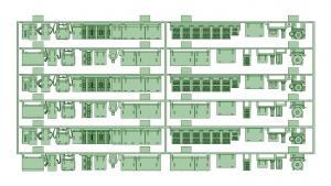 京阪600形床下機器セット(3編成)【武蔵模型工房 Nゲージ 鉄道模型】
