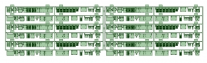 京阪600形床下機器セット(6編成)【武蔵模型工房 Nゲージ 鉄道模型】