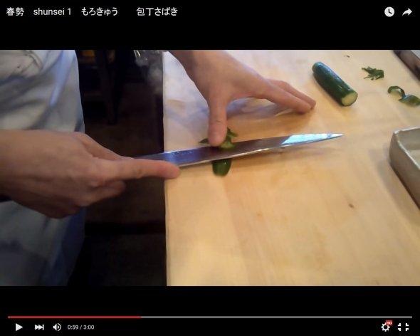 まさに匠の技! 名古屋の寿司職人の「もろきゅう」動画が160万再生...海外からも賞賛相次ぐ