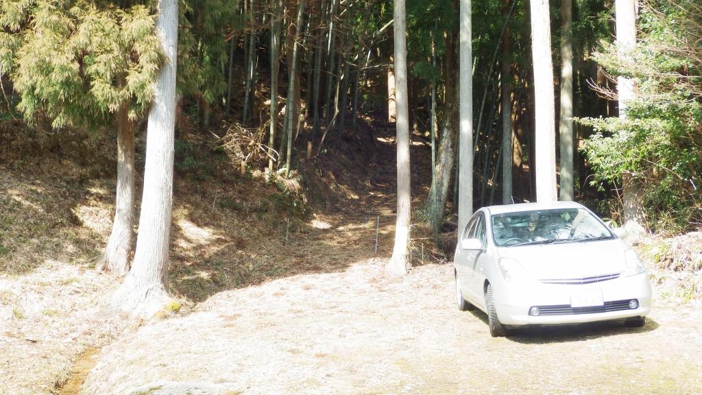 1227登山口駐車場