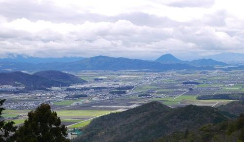 観音正寺より近江平野