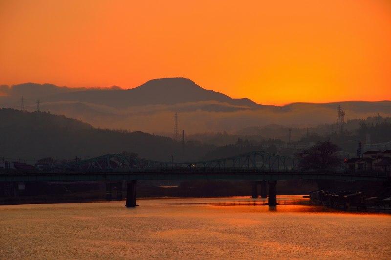 三隈川・日の出 (3)
