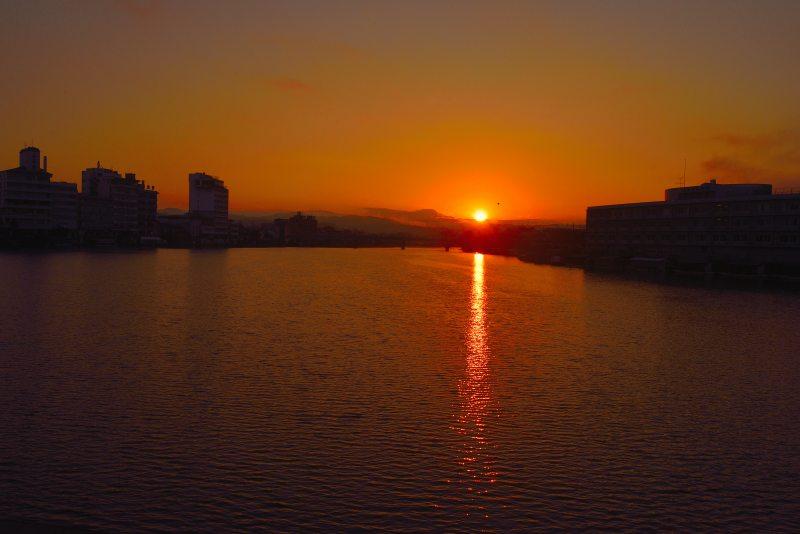 三隈川・日の出 (11)