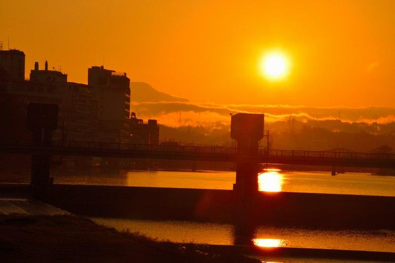 三隈川・日の出 (15)