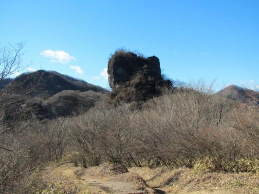 登ってきたスルス岩を振り返る