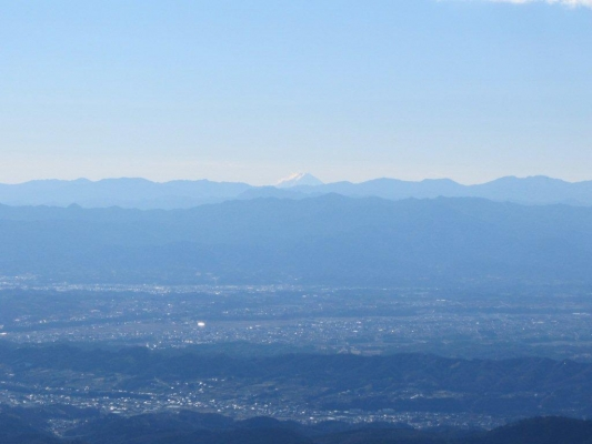 山頂から眺める富士山