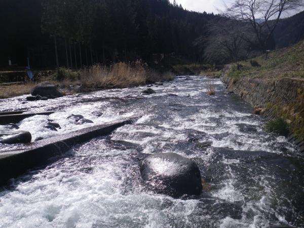 栗巣川の釣り場