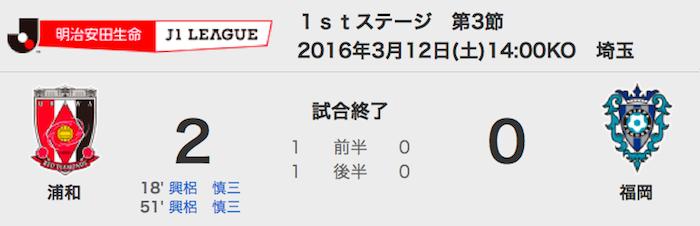 312浦和2-0福岡