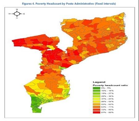 IMFが発表したこの国の貧困マップ。