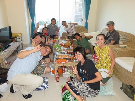 隊員と同僚が日本食を用意してくれました!