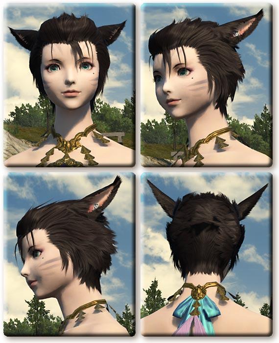 【FF14】3.2パッチ分の女性髪形追加(ミコッテ・ララフェル)