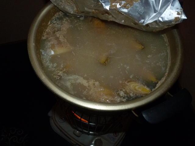 筍 湯がき中