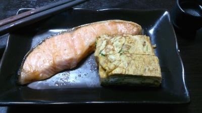 年取り魚と三つ葉の卵焼き