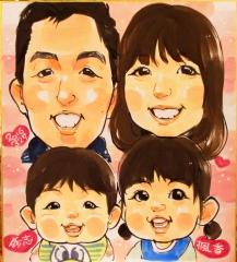 なつき 似顔絵 family